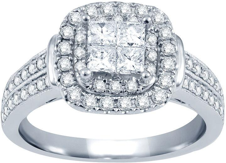 Mariage - Nicole By Nicole Miller 1 CT. T.W. Princess & Round Diamond Engagement Ring