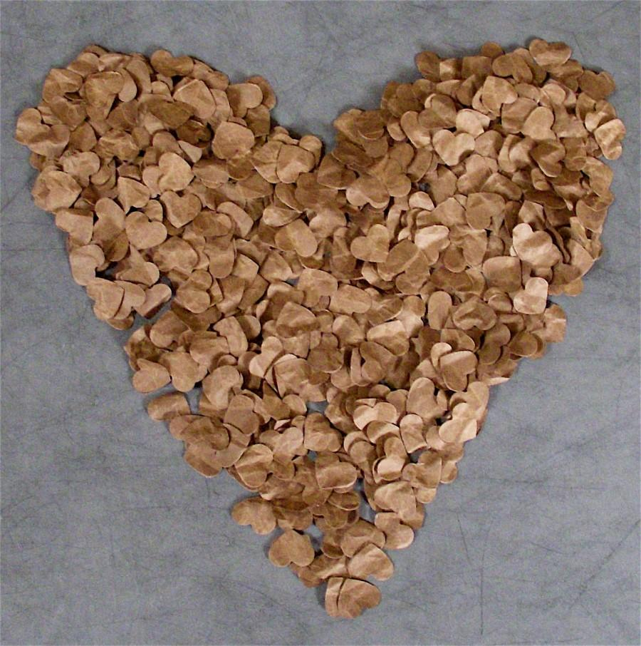 Mariage - Rustic Wedding Decoration, 500 Paper Hearts (FREE SHIPPING)