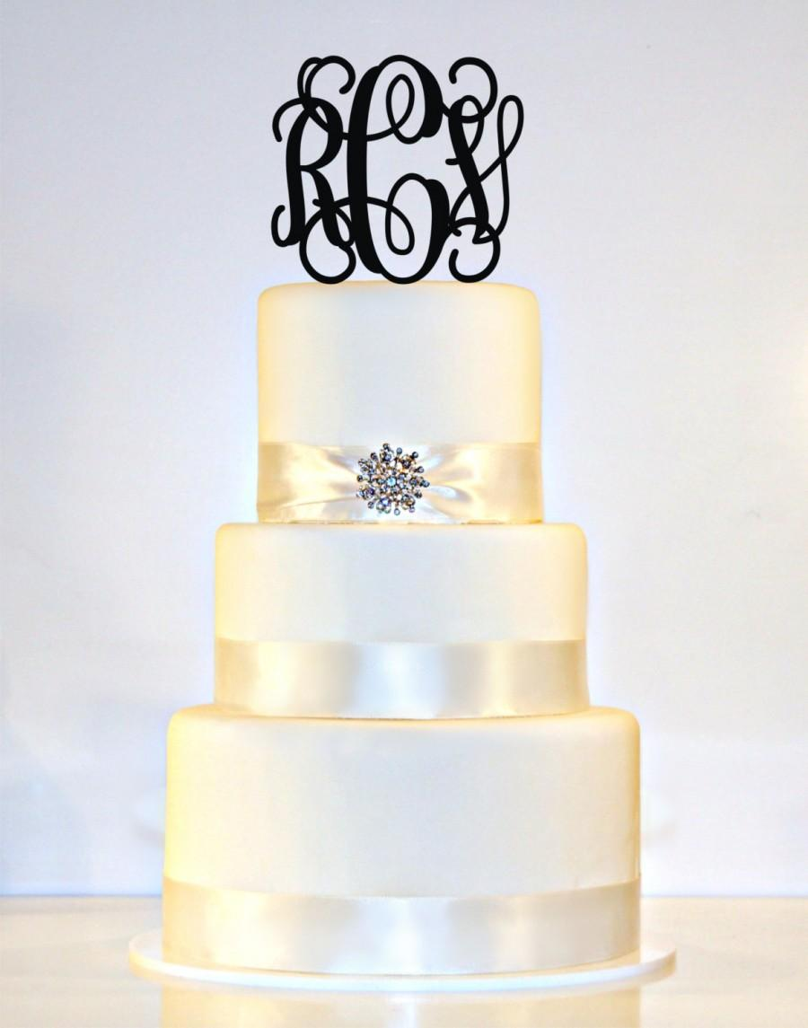 5 Personalized Custom Wedding Monogram Cake Topper 2422674 Weddbook