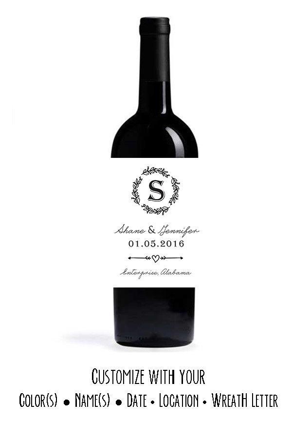 زفاف - Engagement Wine Labels - Custom Wedding Wine Labels - Set of 8 Personalized Labels - Wedding Labels - Engagement Labels