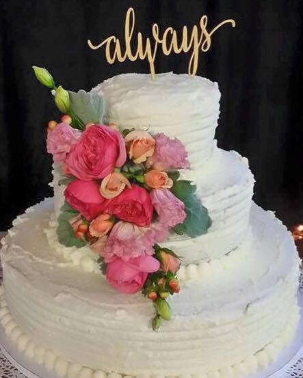 زفاف - Always - Cake Topper for Engagement Parties, Bridal Showers, and Weddings