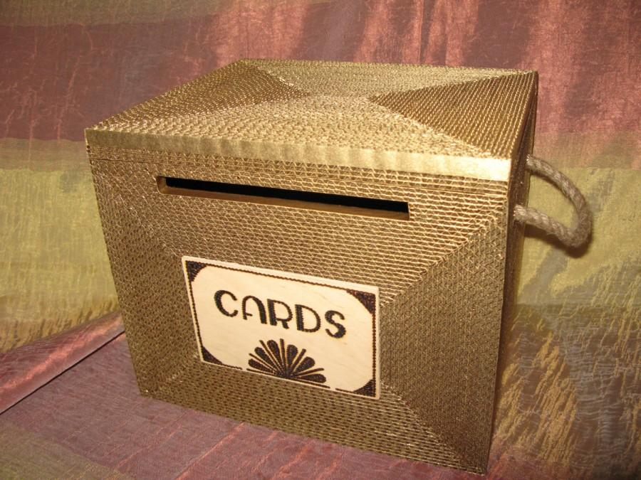 wedding card box card box gatsby card box with lock burlap rustic wedding card box medium gold personalized custom card box