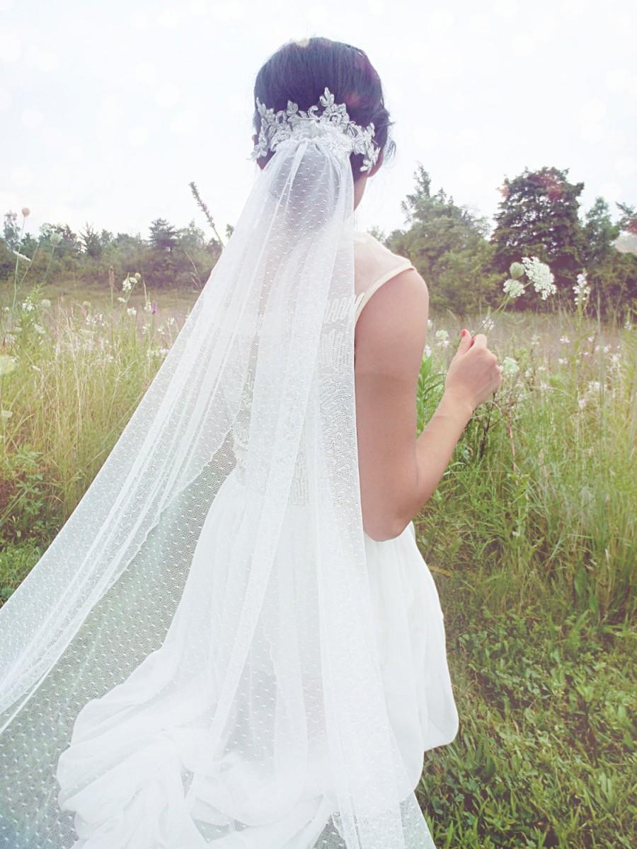 Mariage - Wedding veil, Dotted Veil, Bridal Veil, Swiss Dot Veil --EMILY