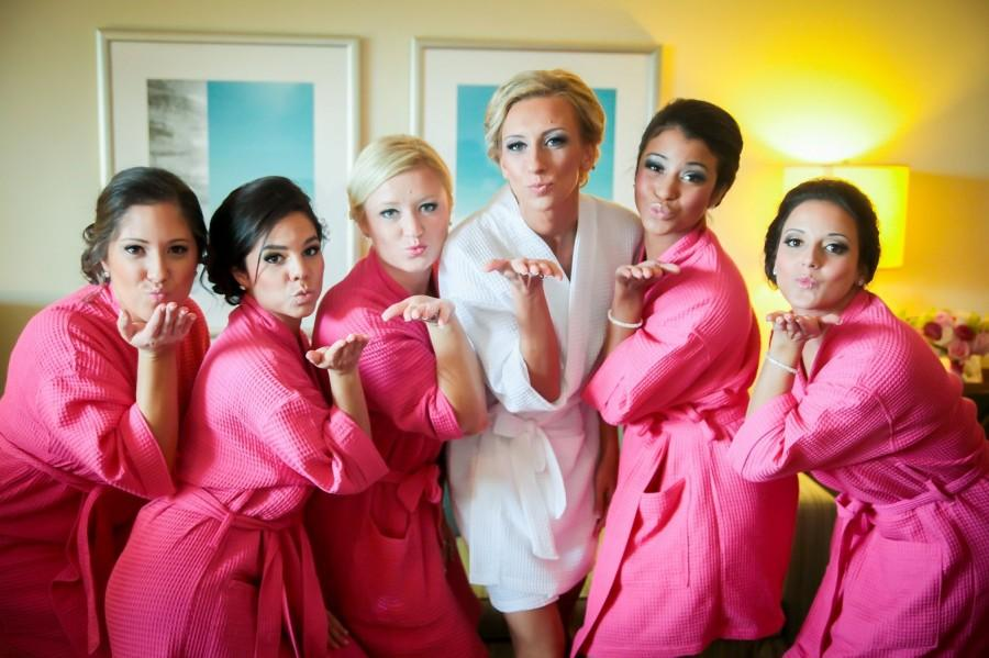 6 bridesmaids gift bridesmaids robes bridal shower favors front embroidery is included custom made