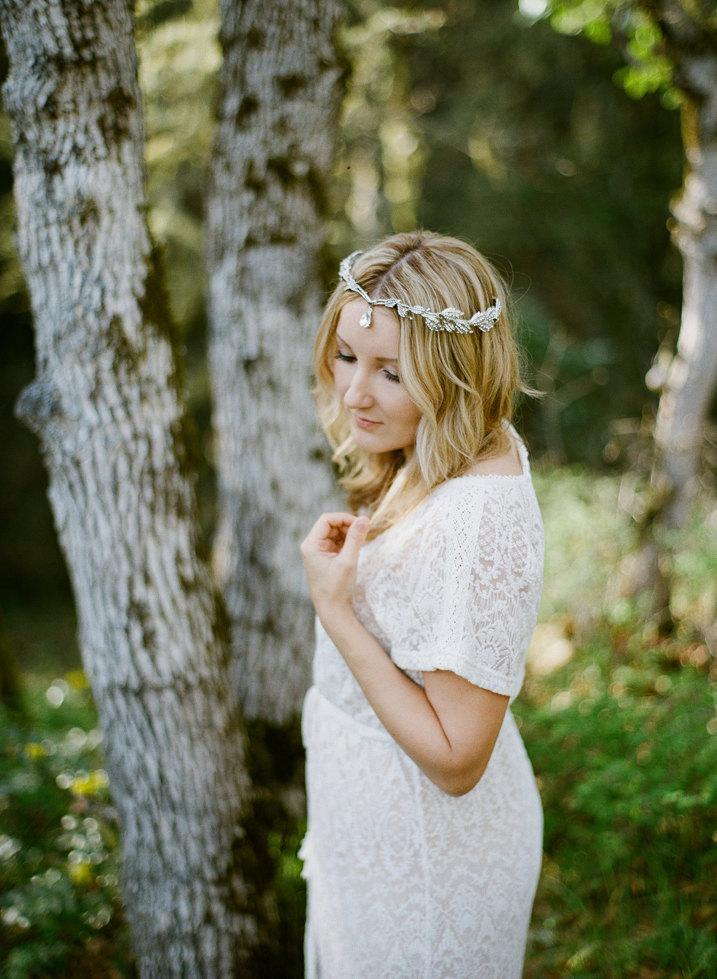 Свадьба - Bridal Leaf Halo, Crystal Leaves Tiara, Swarovski Bridal Halo, Lady Mary Tiara, Laurel Wreath, Bridal Hair Vine, Diamante Leaf Diadem