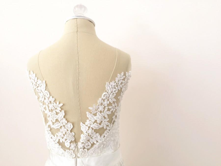 Lace Wedding Dress, Illusion Back Wedding Dress, Low Back ...
