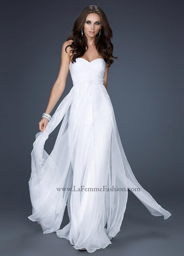 Wedding - Prom dresses Trends La Femme 20093 Illusion Bandeau High Neck Black Dress