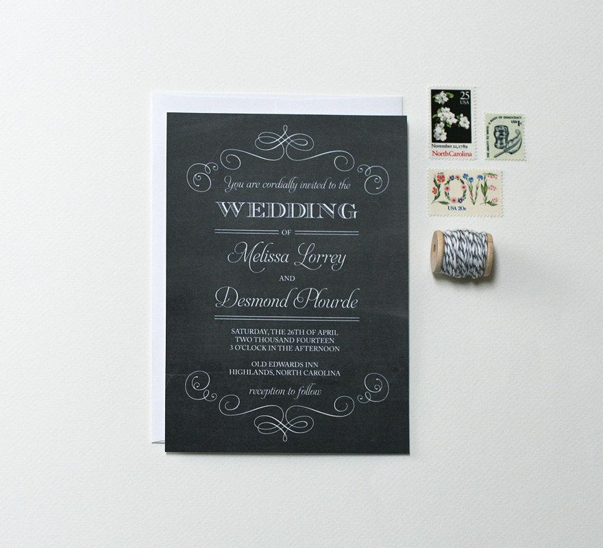 Chalkboard Wedding Invitations 005 - Chalkboard Wedding Invitations