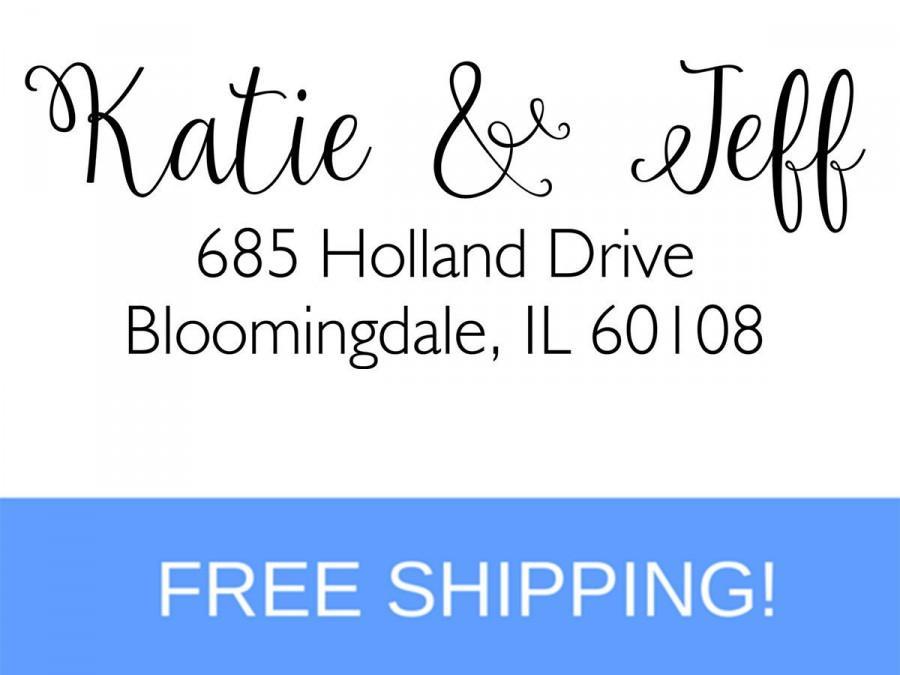 Hochzeit - Self Inking Return Address Stamp - Custom Address Stamp - Personalized Stamp  (D136)