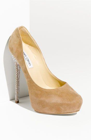 Wedding - Jimmy Choo 'Esam' Crystal Heel Platform Pump