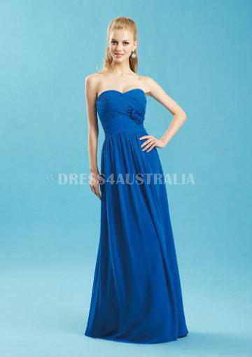 Wedding - Buy Australia Royal Blue Sweetheart Neckline Floor Length Chiffon Bridesmaid Dresses by JME B4037 at AU$130.15 - Dress4Australia.com.au