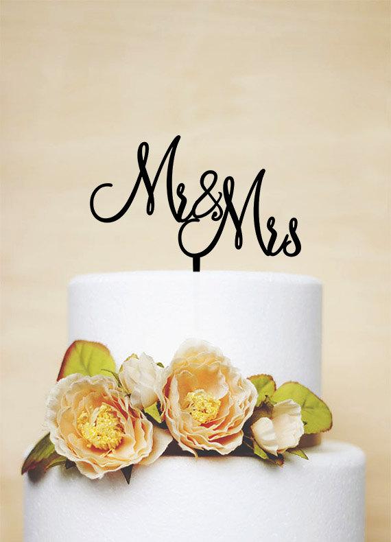 Свадьба - Mr & Mrs Cake Topper,Wedding Cake Topper,Acrylic Cake topper-P037