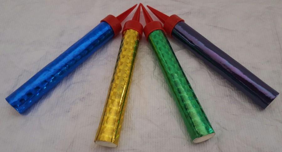 Hochzeit - Big Birthday/Wedding Cake Candles Rainbow (4 pack)