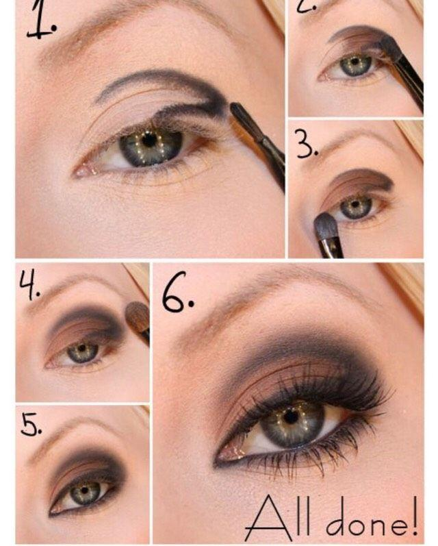 Свадьба - Brown And Black Eyemakeup