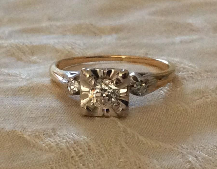 Breathtaking Vintage 1930s 14k White And Yellow Gold ...