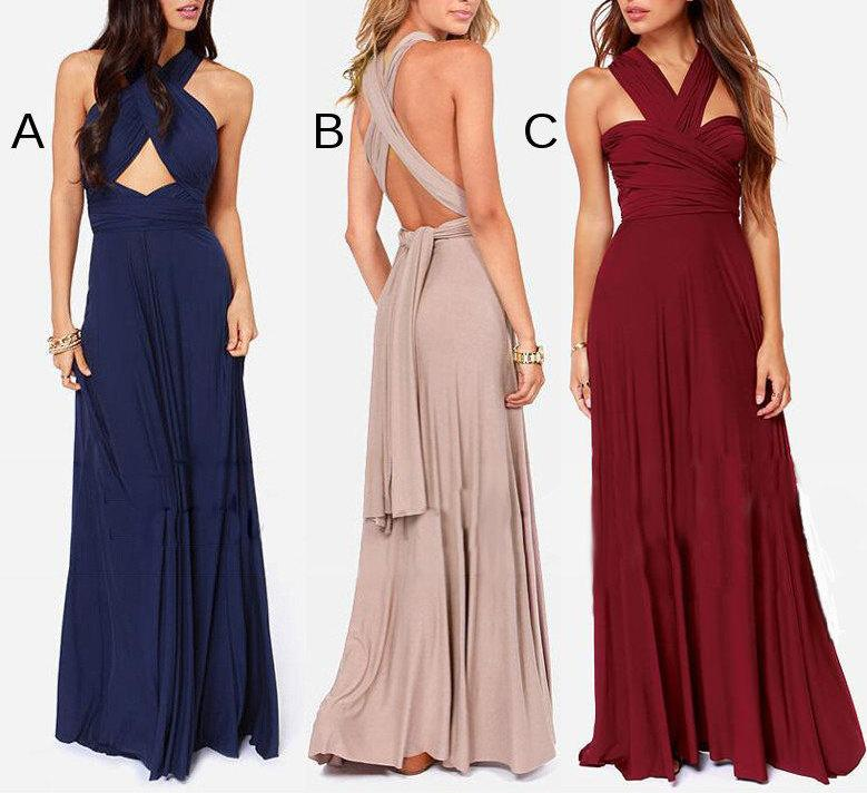 Bridesmaid Dress Infinity Dress Convertible Dress Infinity Wrap Dress Beach Maxi Dress