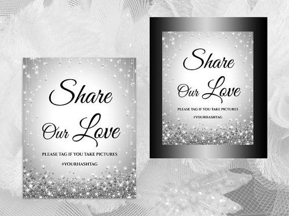 Wedding - DIY Printable Wedding Hash Tag Sign Template