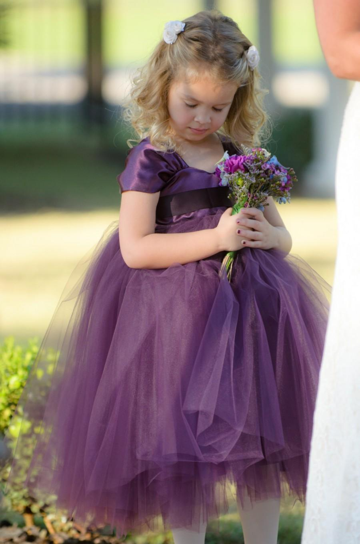 Boda - Flower Girl Dress Purple