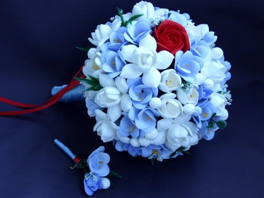 Alternative Bouquet And Boutonniere Set Bouquet Of Handmade Bridal