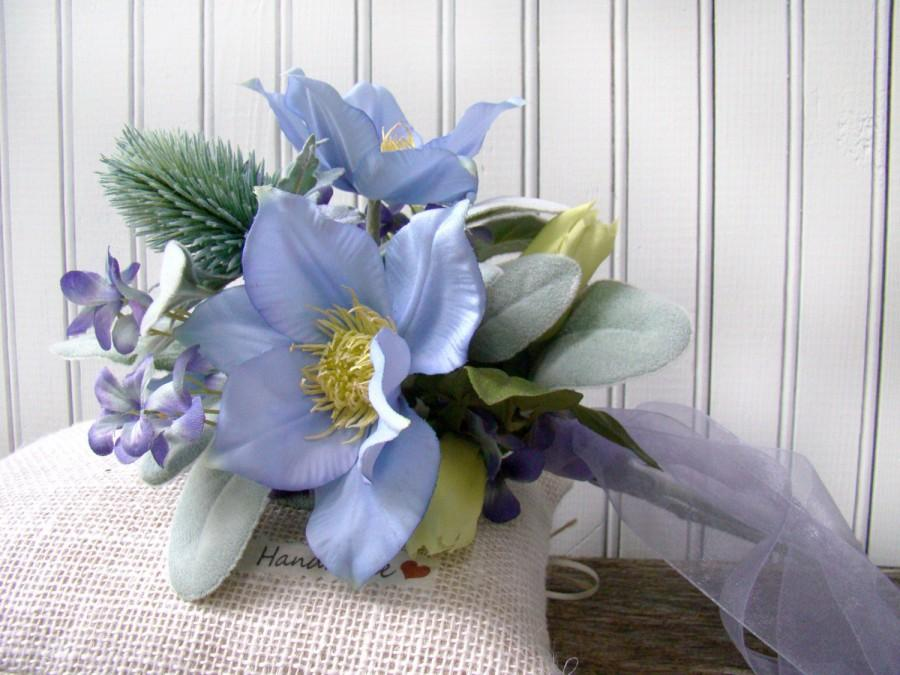Wedding Bouquets Bridal Bridesmaids Silk Wedding Flowers Blue