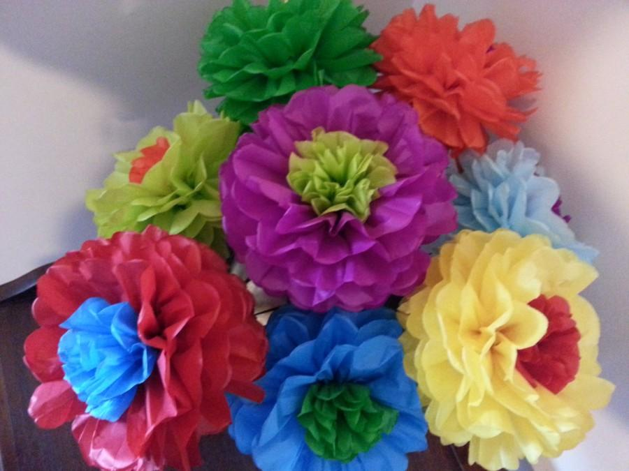 how to make mexican paper flowers out of tissue paper