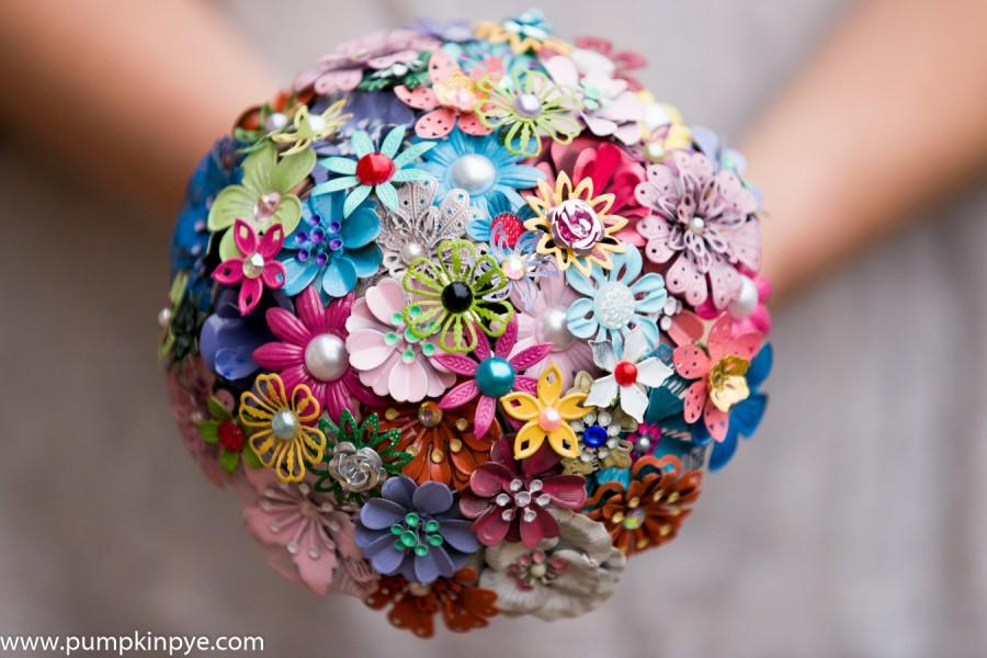Свадьба - Enamel brooch bridal bouquet,