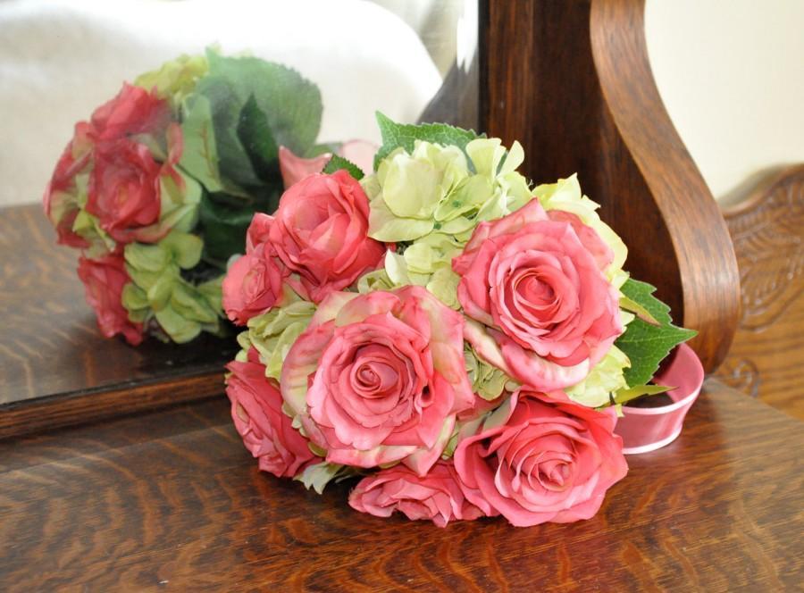 Свадьба - Silk Wedding Bouquet, Wedding Bouquet, Keepsake Bouquet, Bridal Bouquet Summer wedding flower bouquet