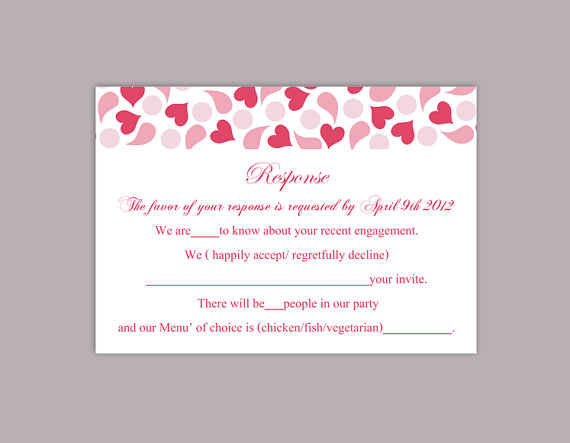 rsvp card template word pacqco – Free Wedding Rsvp Card Templates