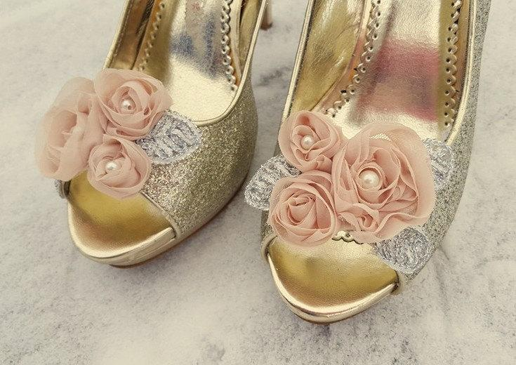 Shoe Clips Bridal Wedding Champagne Fl For Shoes Pumps Heels