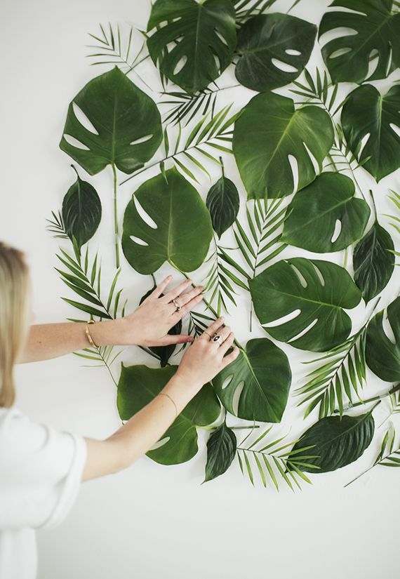 زفاف - Diy Leaf Backdrop