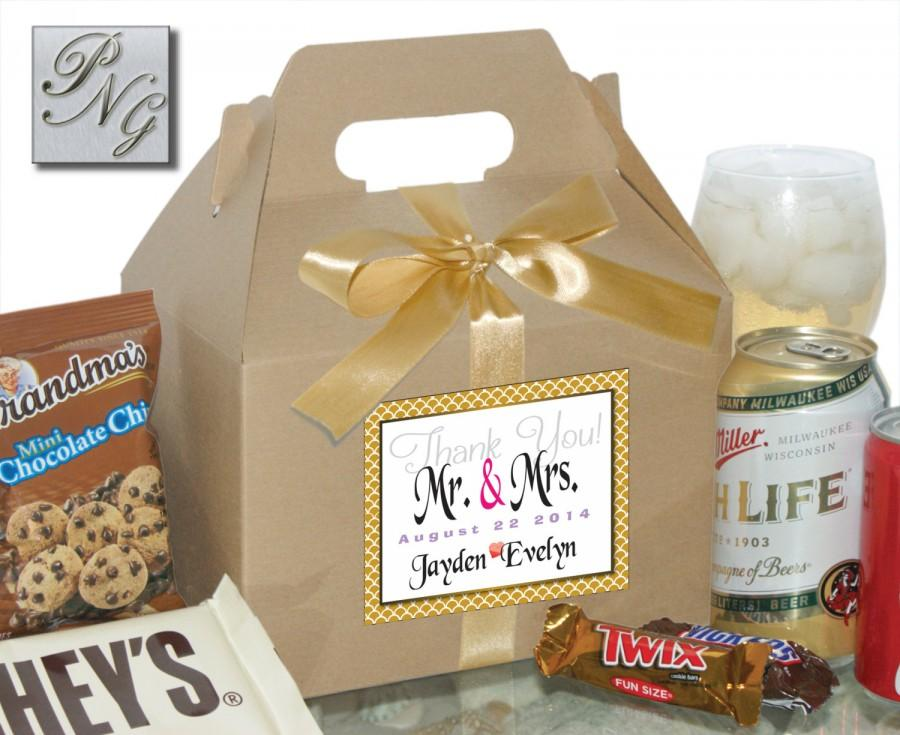 6 Wedding Gift Box Gable Box Personalizedwelcome Guest Candy Gift