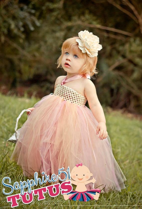 Wedding - Ivory Flower Girl Dress-Flower Girl Tutu Dress-Wedding Tutu