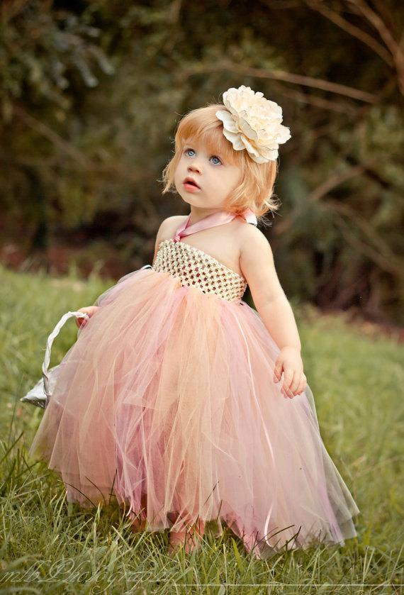 Wedding - Ivory Flower Girl Dress-Flower Girl Dress-Flower Girl Tutu