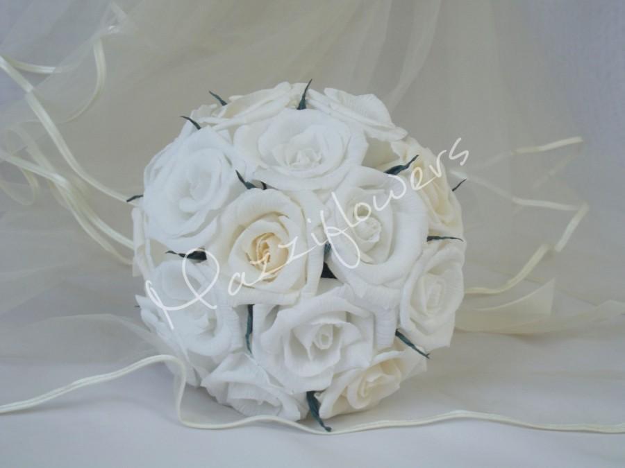 Свадьба - Bridal bouquet,bridesmaids bouquet,paper flower,flower paper bouquet,wedding bouquet,paper flower bouquet,paper flower decor,paper roses,