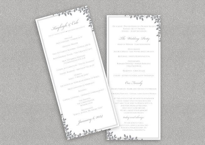 Diy Wedding Program Template Download Instantly Editable Text