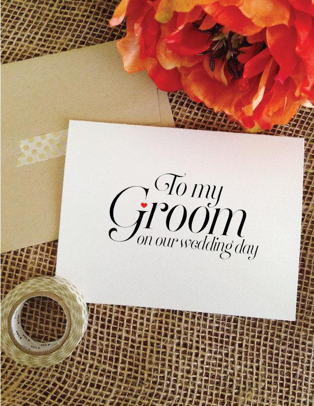 To my groom on our wedding day card to my groom card for Gift from bride to groom on wedding day