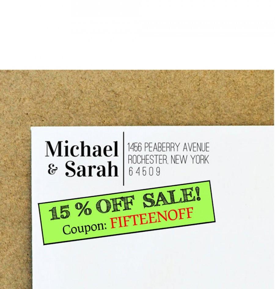 Hochzeit - Custom Address Stamper - Self Inking Address Stamp - Return Address Stamper - Wedding Gift - Bridal Gift