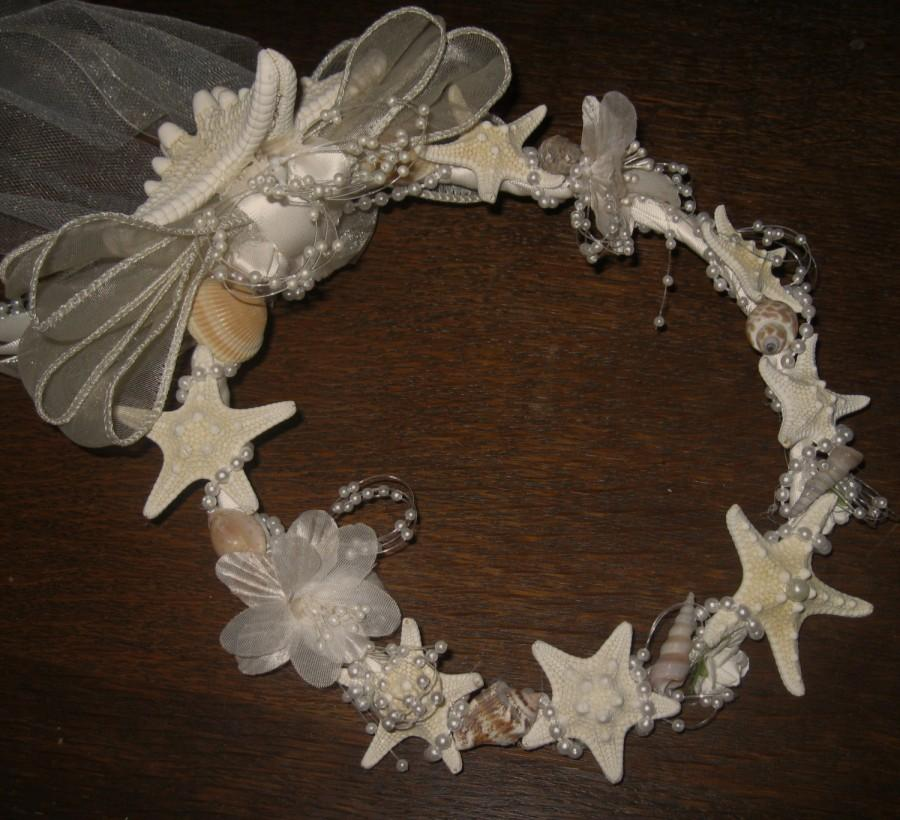 Hochzeit - Beach Wedding Bridal Headpiece with Starfish
