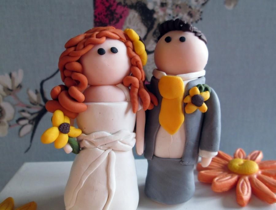 Mariage - Bespoke Bride and Groom Wedding Cake Toppers