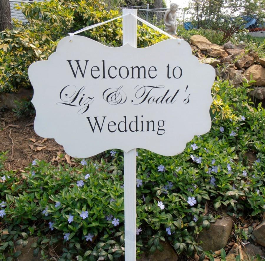 Custom Wood Welcome Wedding Yard Sign Decoration Personalized Name Date And Location