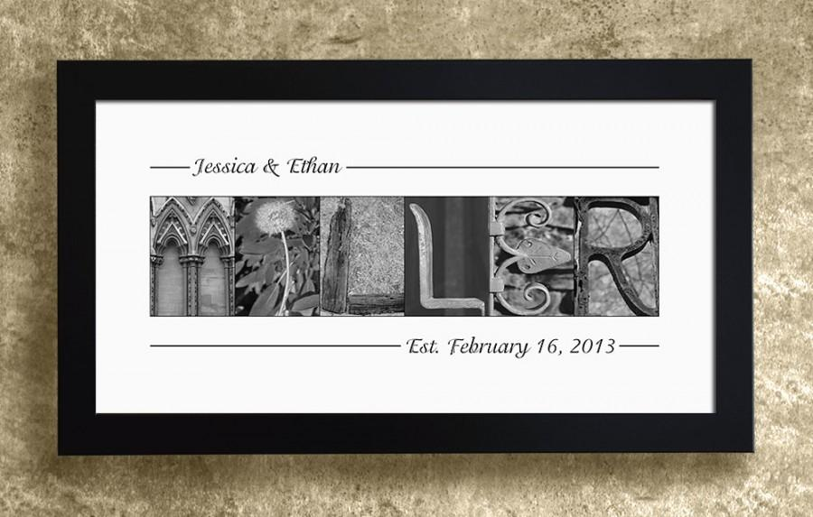 Mariage - PERSONALIZED WEDDING GIFT - Wedding Decoration, Family Name Sign, Alphabet Letters Print