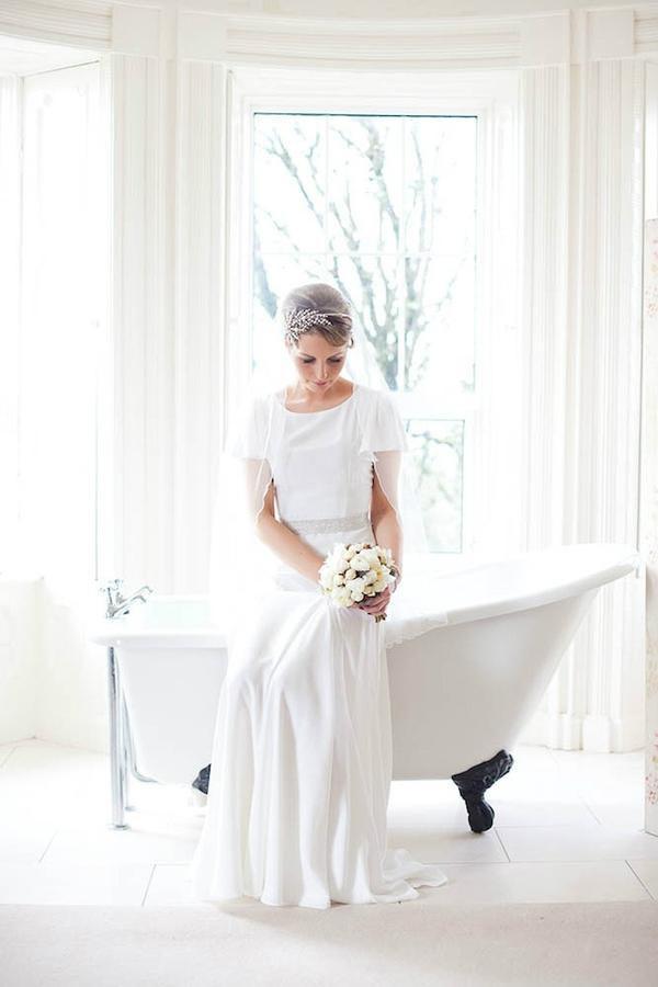 Mariage - Mantilla veil in soft fine tulle
