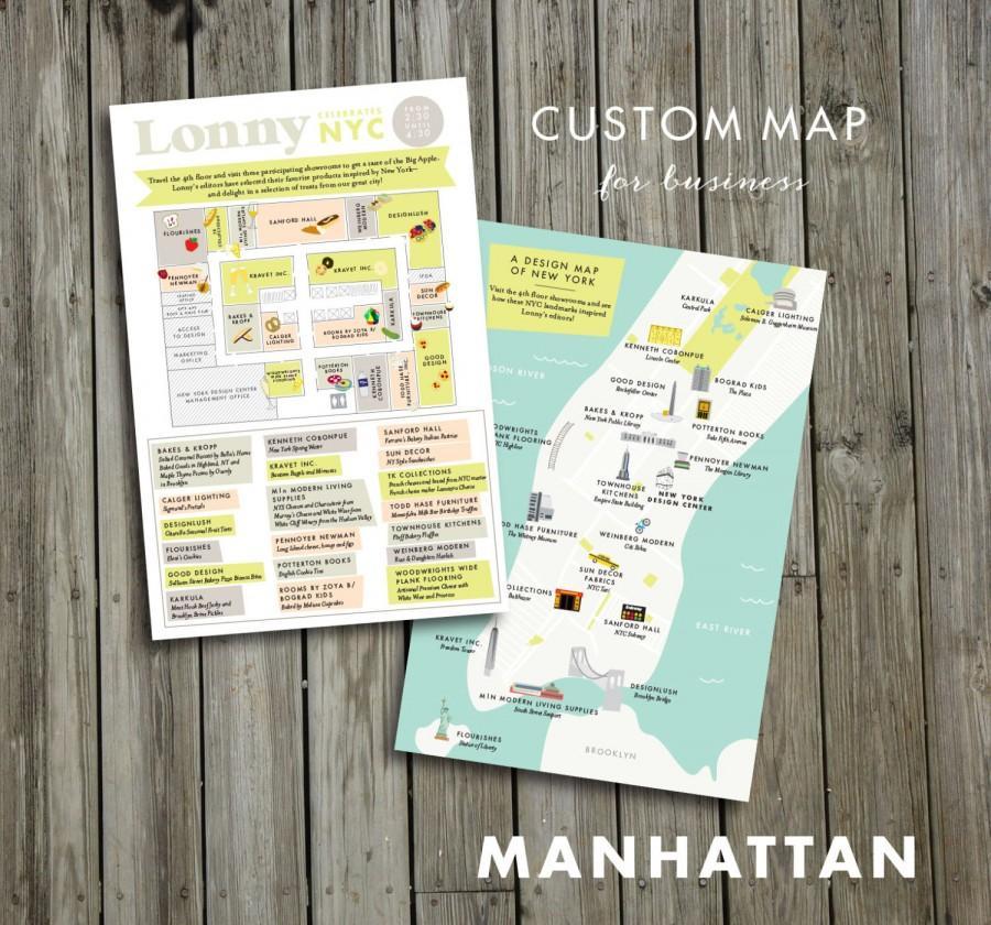 Mariage - Custom Map for business , JPress Designs, wedding, travel, guest guide,  moving announcement, custom map, illustration, custom design, map