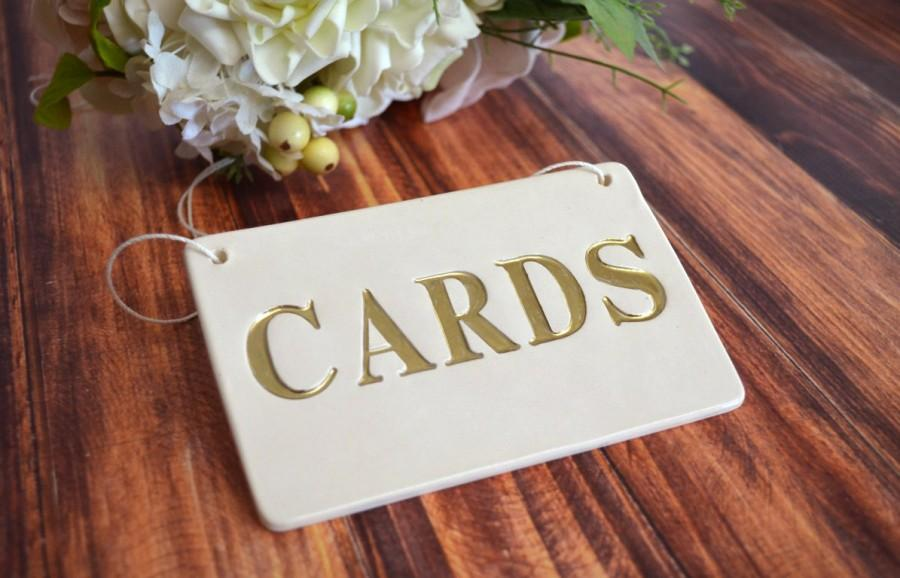 Wedding - Gold Cards Sign for Wedding Card Box - Gift Wrapped