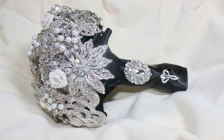زفاف - Alternative Bouquet - Black Bouquet - Brooch Bouquet - Crystal Bouquet - Bridal Bouquet - Wedding Bouquet - Broach Bouquet - Deposit