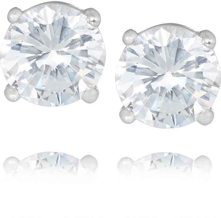 Kenneth Jay Lane Rhodium Plated Cubic Zirconia Earrings