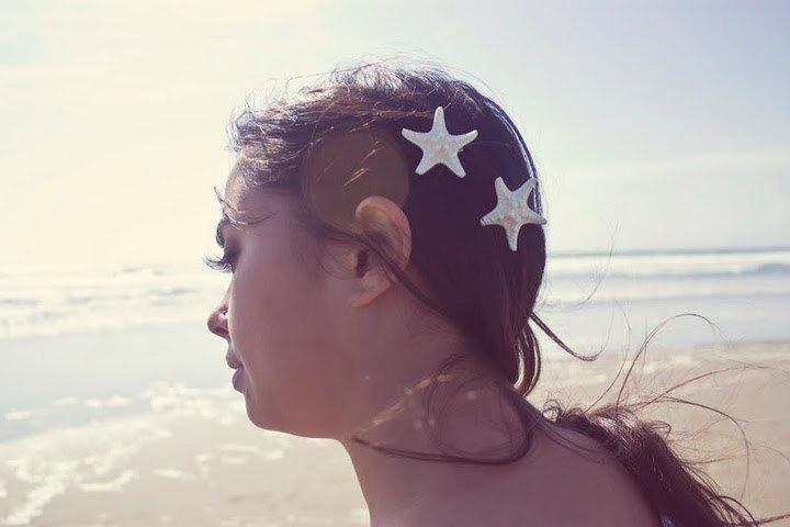 زفاف - White Starfish Barrettes Starfish Hair Clips Starfish Hair Accessories Mermaid Hair Beach Wedding Bridal Hair Accessories Mermaid Costume