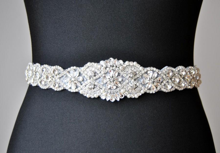 Sale wedding dress sash belt luxury crystal bridal sash for Sparkly belt for wedding dress