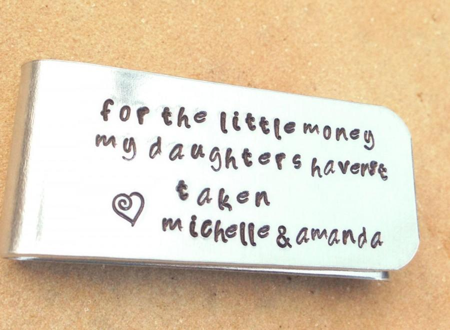 Свадьба - Father Gift-Money Clip- Gifts for Dad- Wedding Favor Gifts- Gifts For Men- Hand Stamped Money Clip, natashaaloha