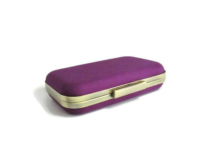 Mariage - gifts for bridesmaid, winter weddings, purple weddings, bridesmaids gifts, clutches, eggplant purple, evening clutches, purple clutches